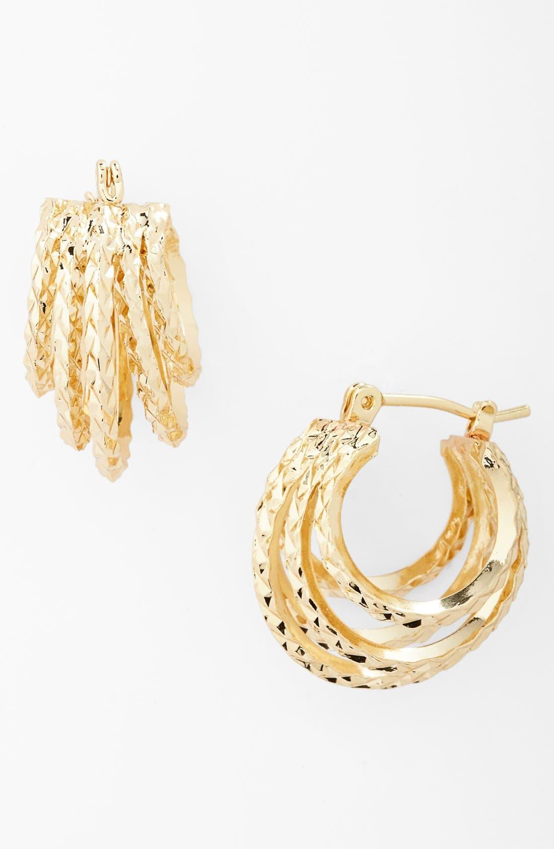 Alternate Image 1 Selected - Natasha Couture 'Tiny' Hoop Earrings