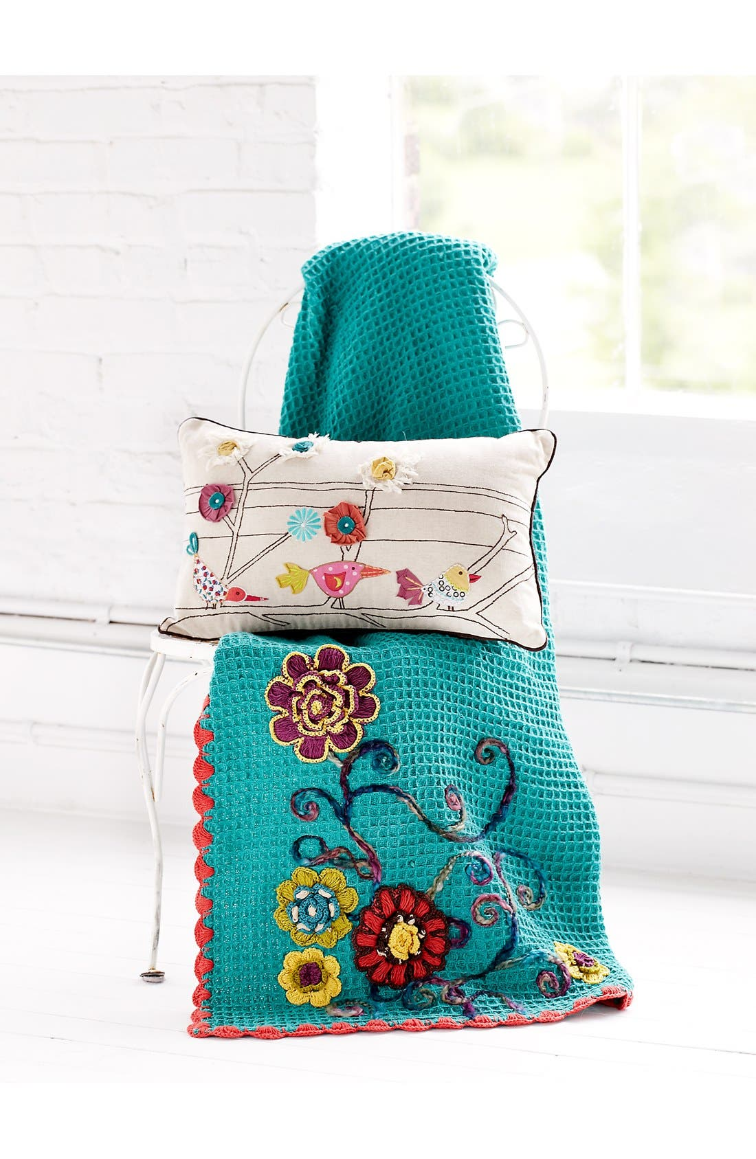 Alternate Image 2  - Amity Home 'Haley' Floral Embroidered Knit Throw
