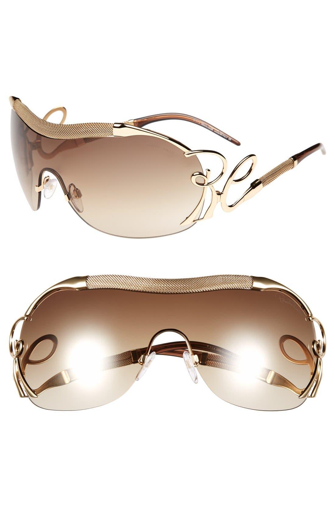 Alternate Image 1 Selected - Roberto Cavalli 'Botein' Shield Sunglasses