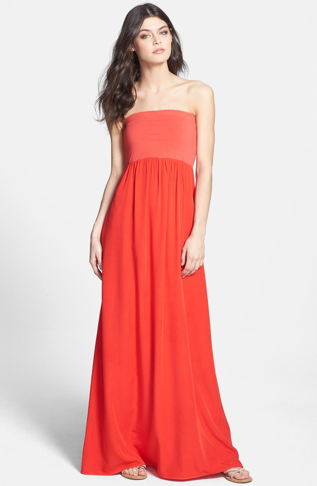 Main Image - Splendid Strapless Knit Maxi Dress