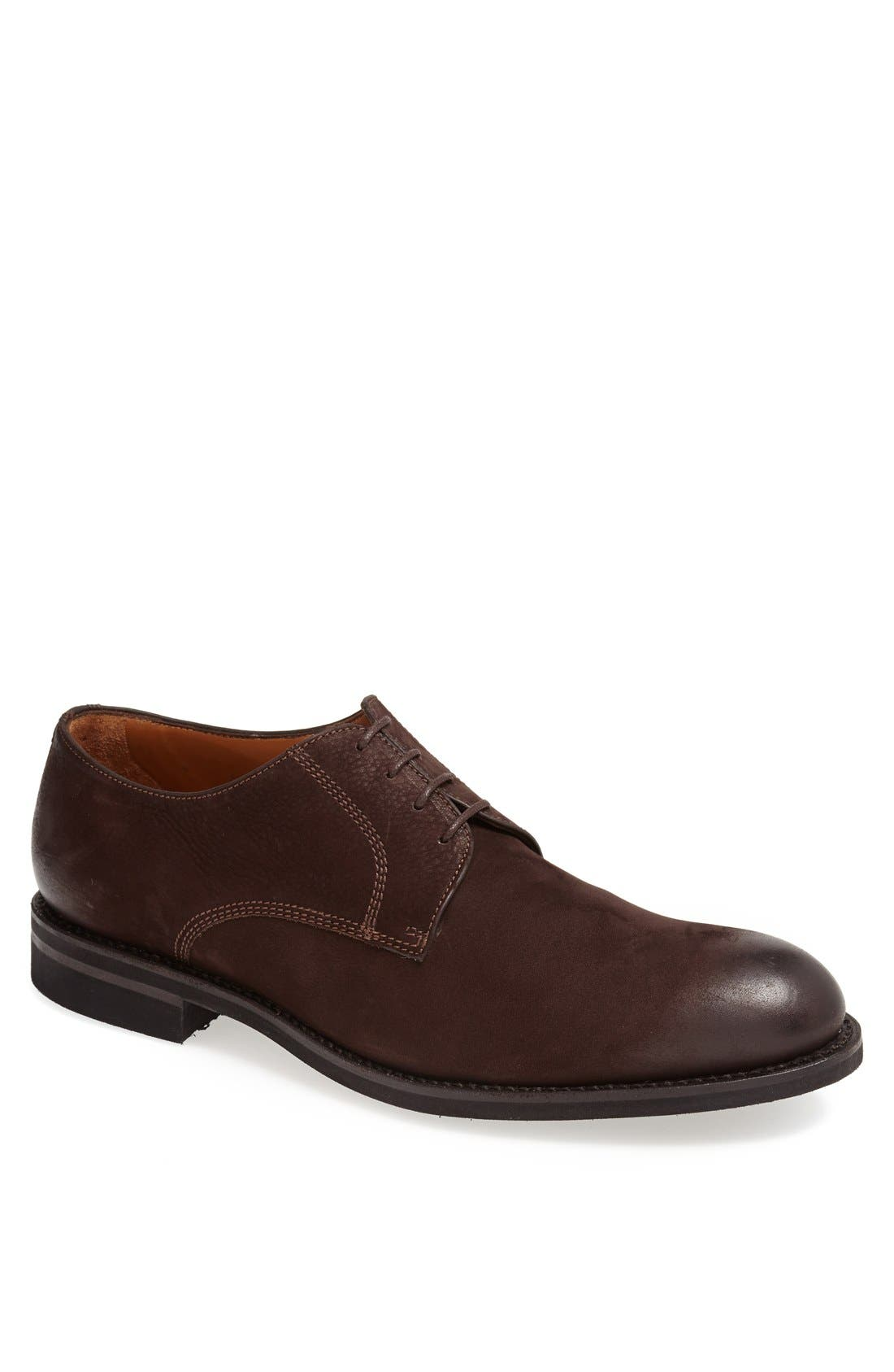Main Image - Lottusse Leather Plain Toe Derby