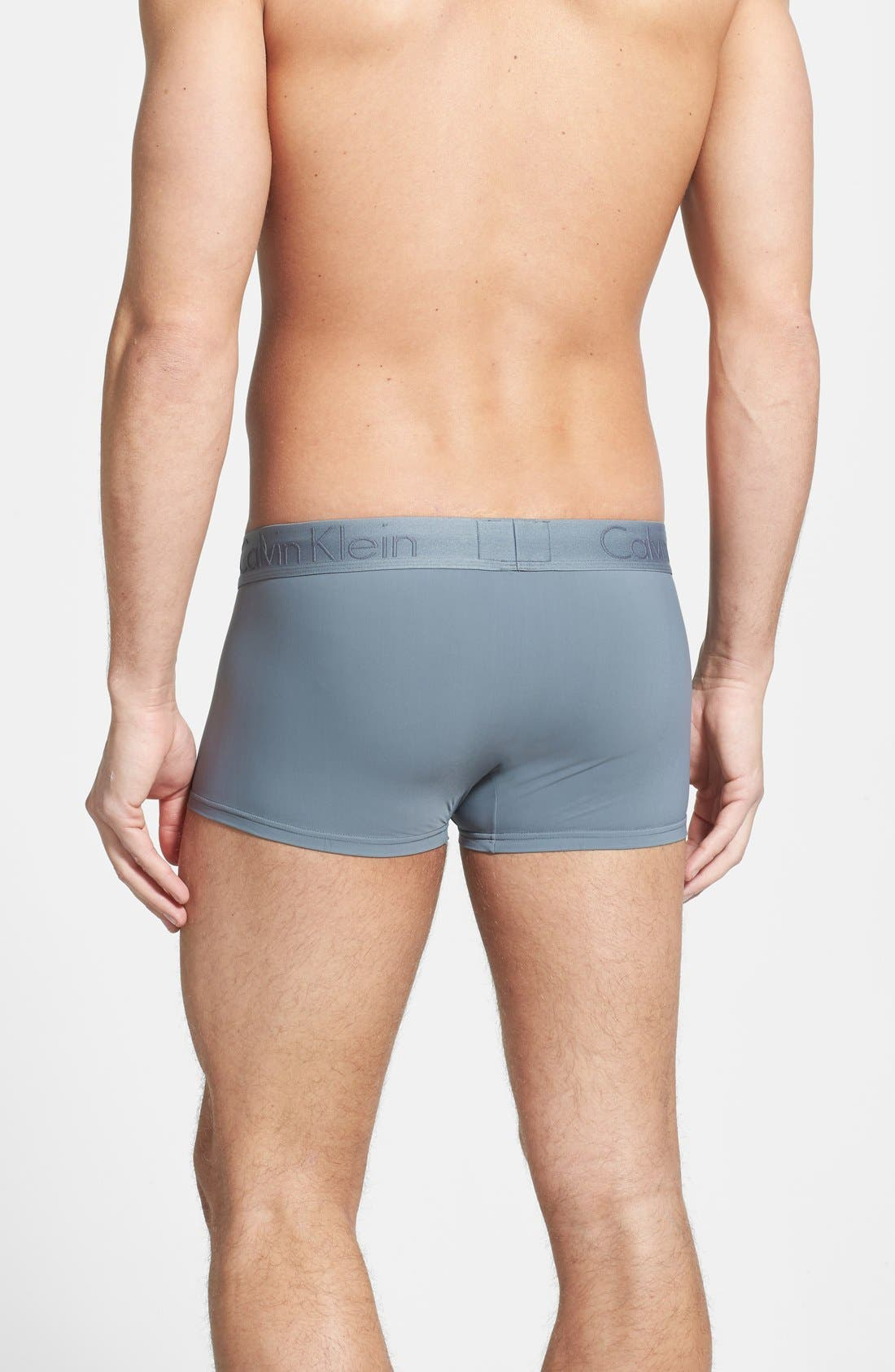 Alternate Image 2  - Calvin Klein Black Stretch Trunks