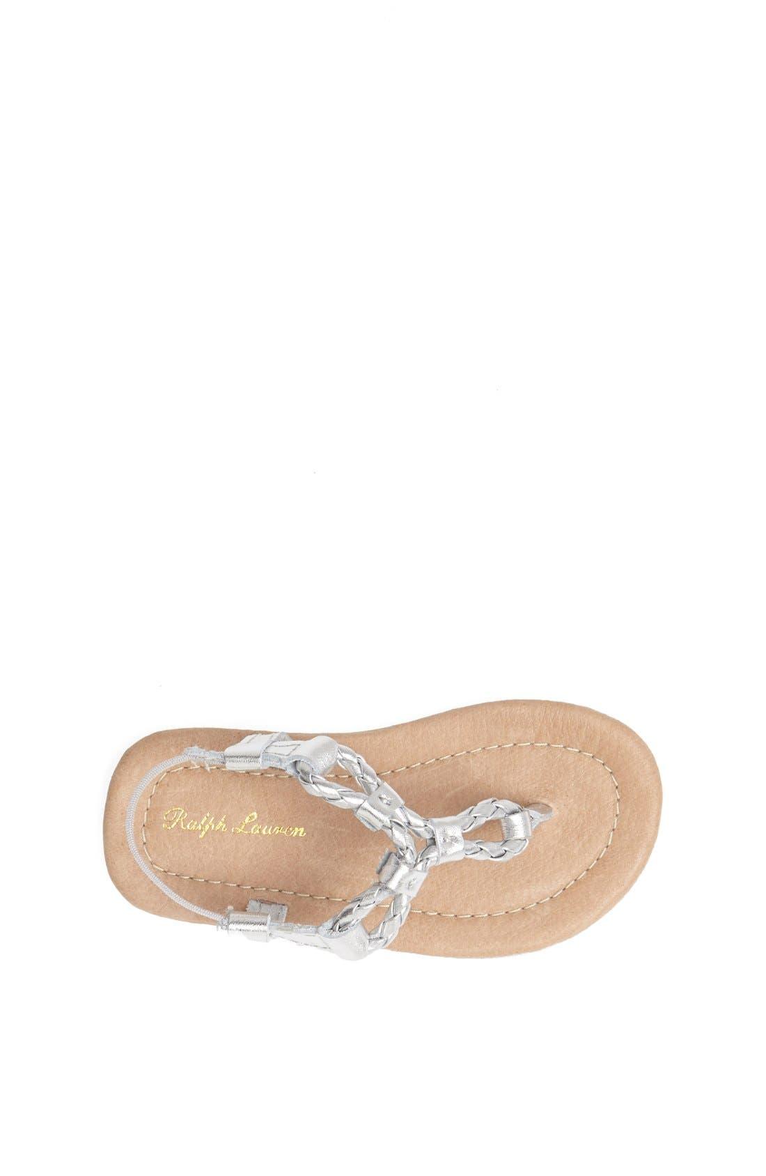 Alternate Image 3  - Ralph Lauren Layette Leather Sandal (Baby Girls)
