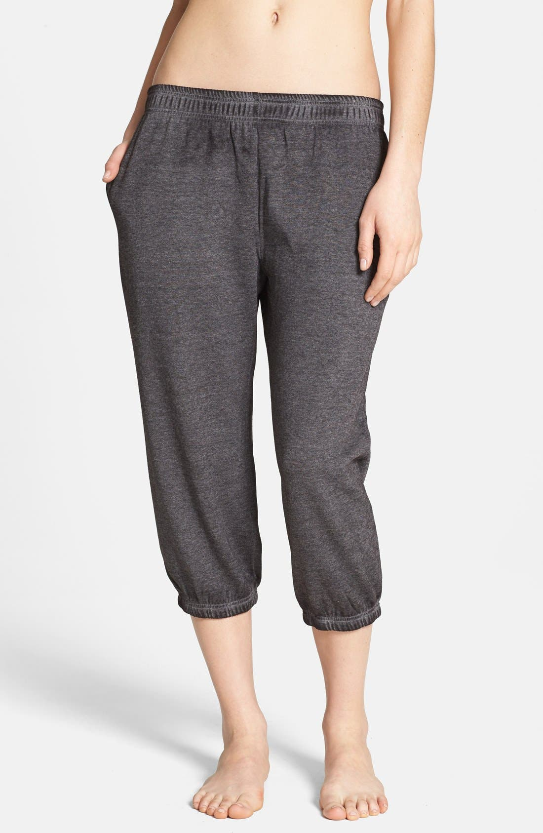 Alternate Image 1 Selected - BP. Undercover 'Gym Class' Crop Sweatpants (Juniors)