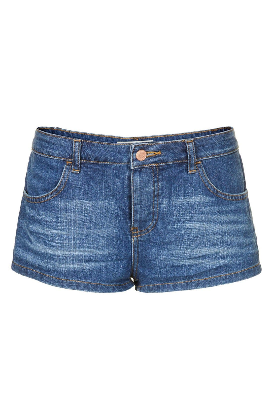 Alternate Image 3  - Topshop Moto 'Daisy' Denim Shorts