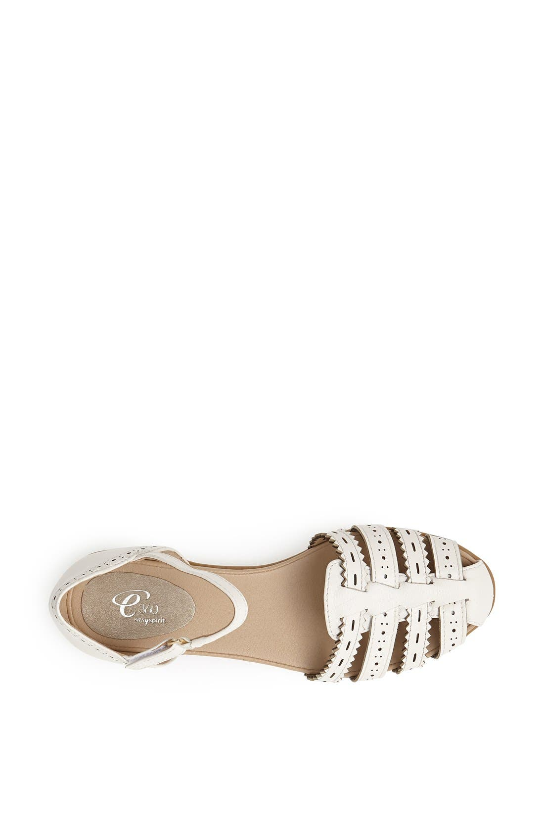 Alternate Image 3  - Easy Spirit 'e360 - Galfriday' Pinked & Perforated Leather Quarter Strap Sandal (Women)