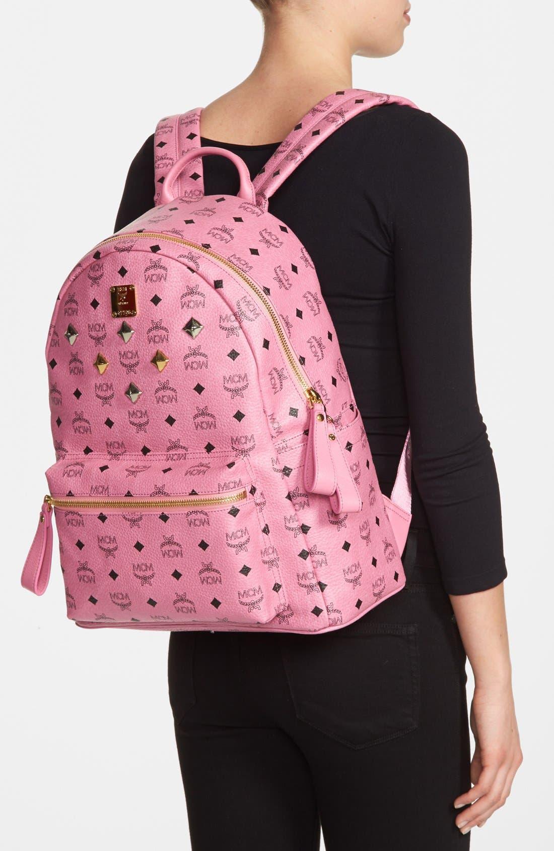 Alternate Image 2  - MCM 'Medium Stark - Visetos' Studded Coated Canvas Backpack