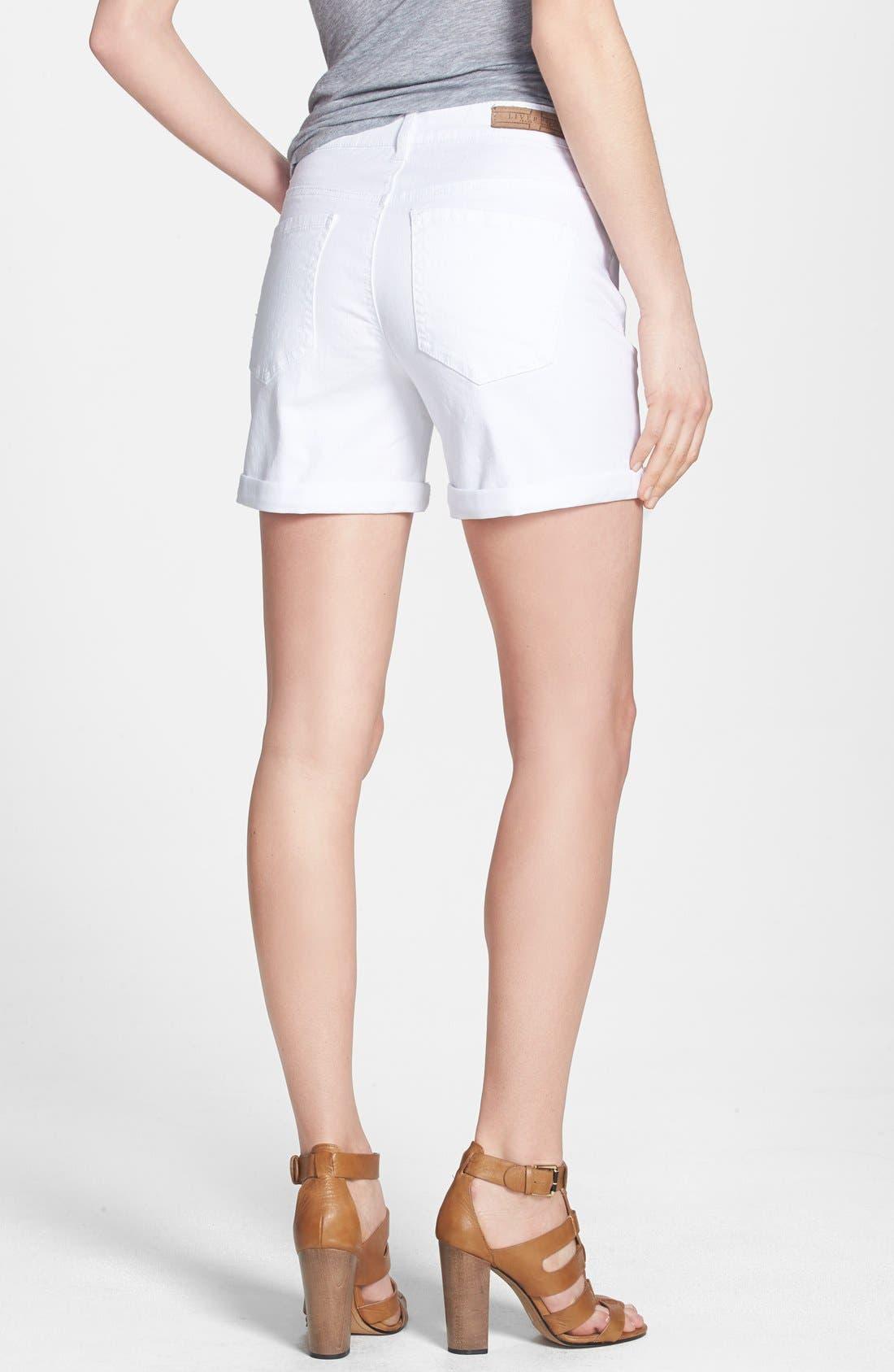Alternate Image 2  - Liverpool Jeans Company 'Linda' Denim Shorts (White)