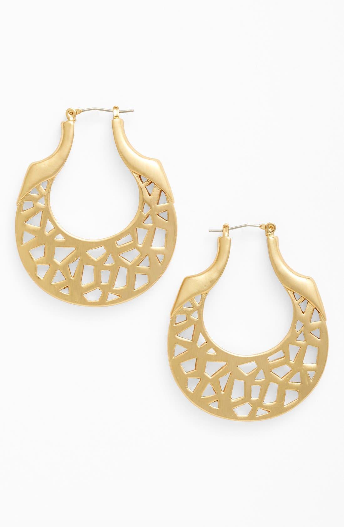 Alternate Image 1 Selected - Vince Camuto 'Mosaic Cut Out' Hoop Earrings