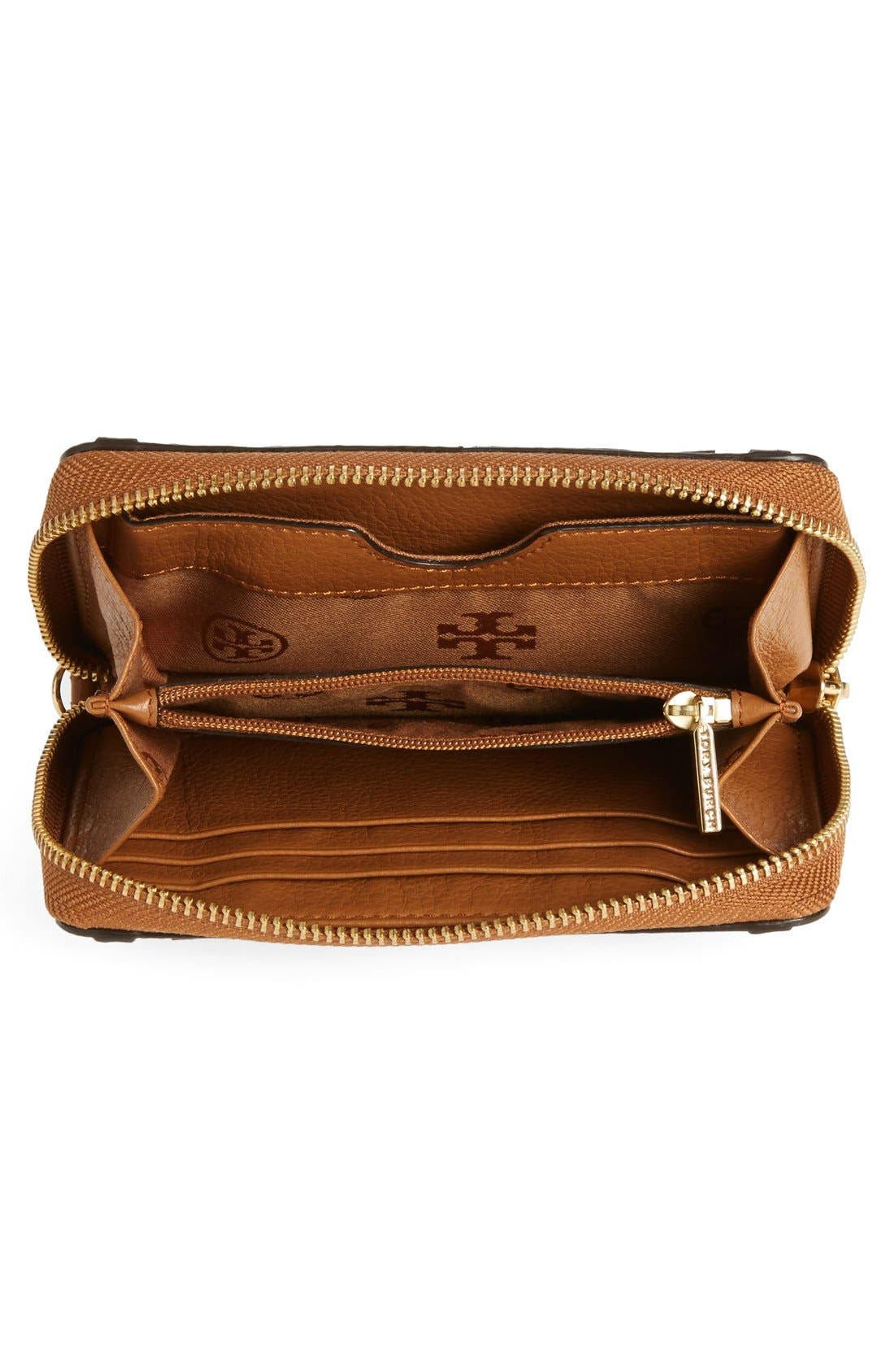 Alternate Image 4  - Tory Burch 'All T' Leather Phone Wallet