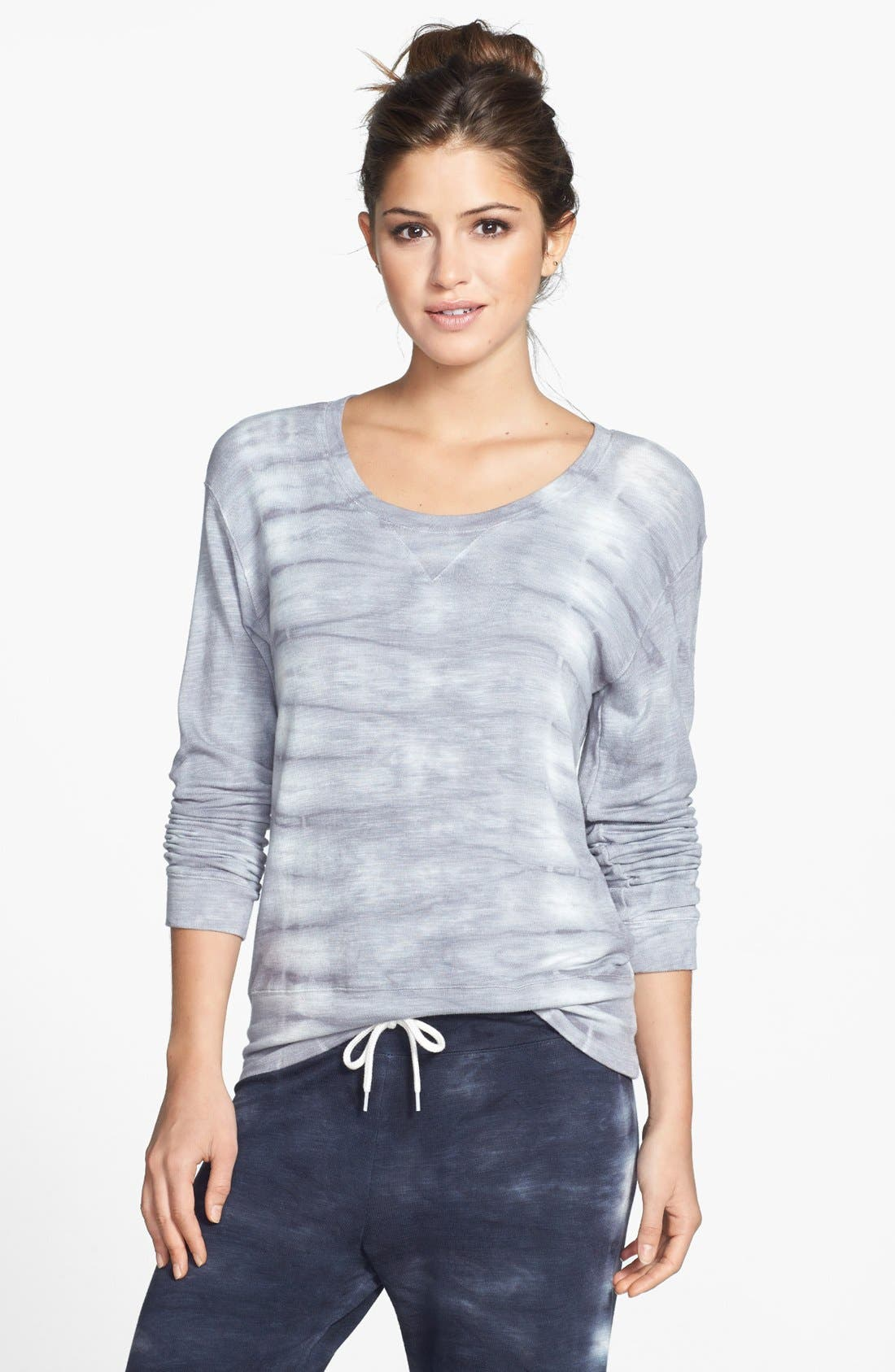 Main Image - Monrow 'Fish Bone' Crewneck Sweatshirt