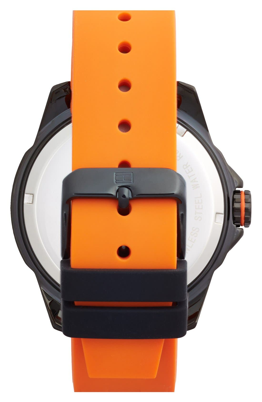 Alternate Image 2  - Tommy Hilfiger Carbon Fiber Dial Silicone Strap Watch, 48mm
