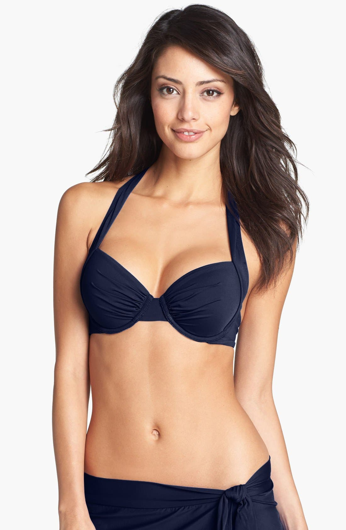 Alternate Image 1 Selected - Tommy Bahama Underwire Halter Bikini Top