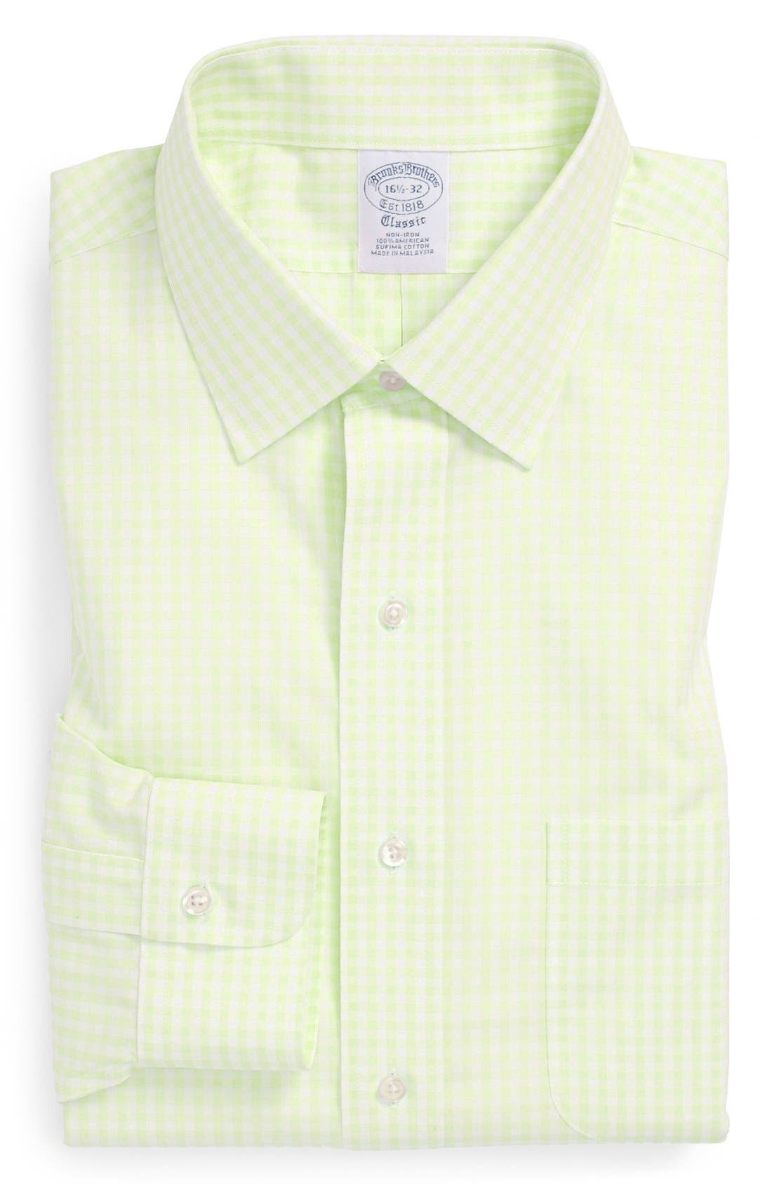 Alternate Image 1 Selected - Brooks Brothers Slim Fit Non-Iron Check Dress Shirt