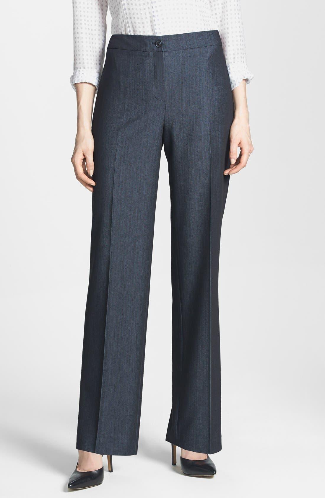Main Image - Jones New York 'Sloane' Stretch Denim Mid Rise Pants (Regular & Petite)