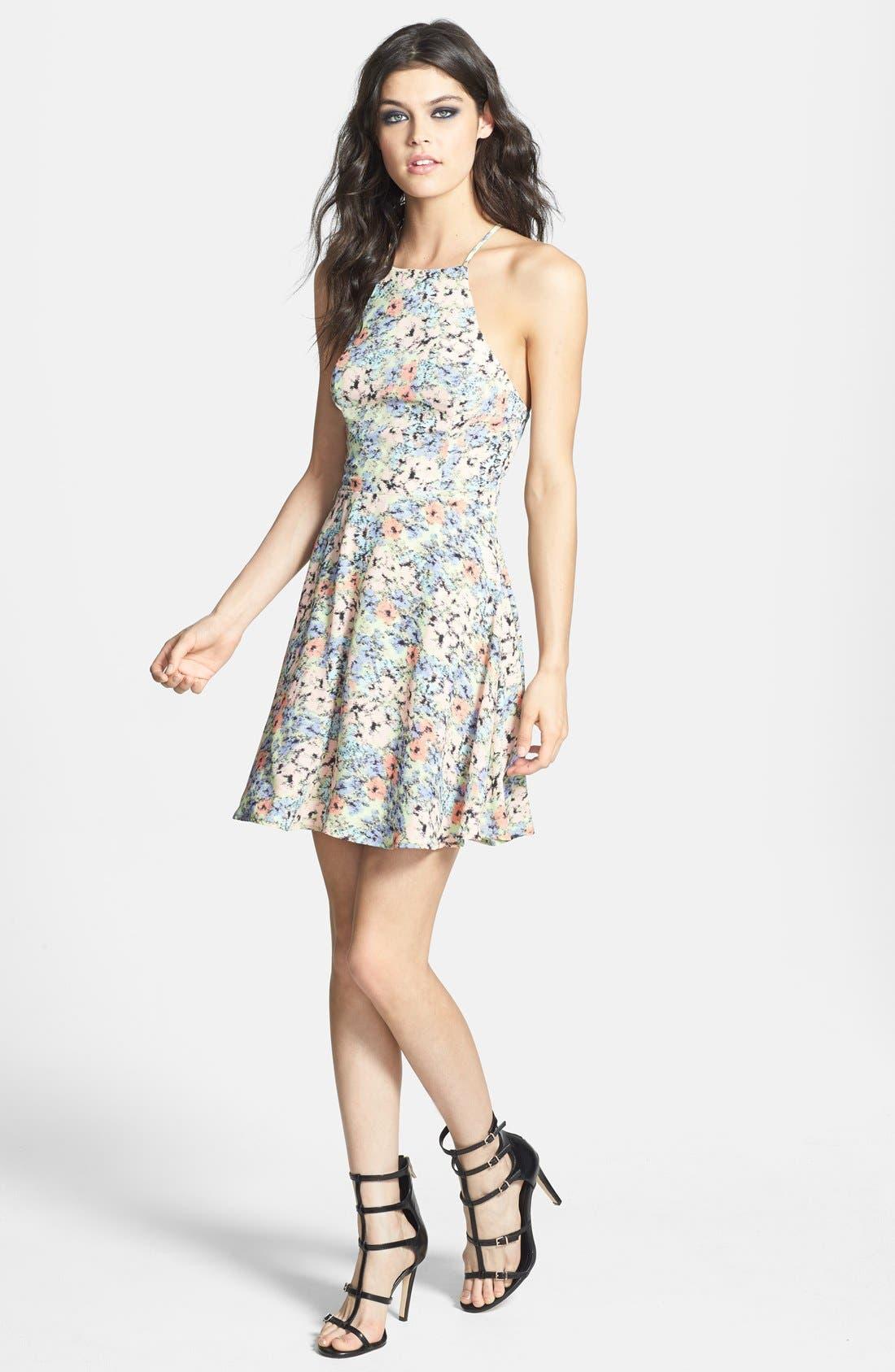 Alternate Image 1 Selected - ASTR Tie Back A-Line Dress