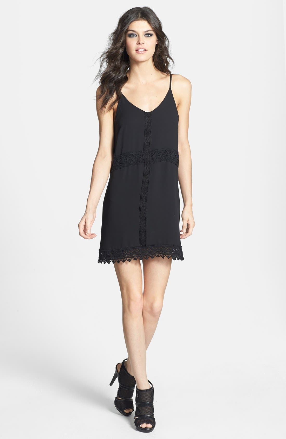 Alternate Image 1 Selected - ASTR Lace Trim Slipdress