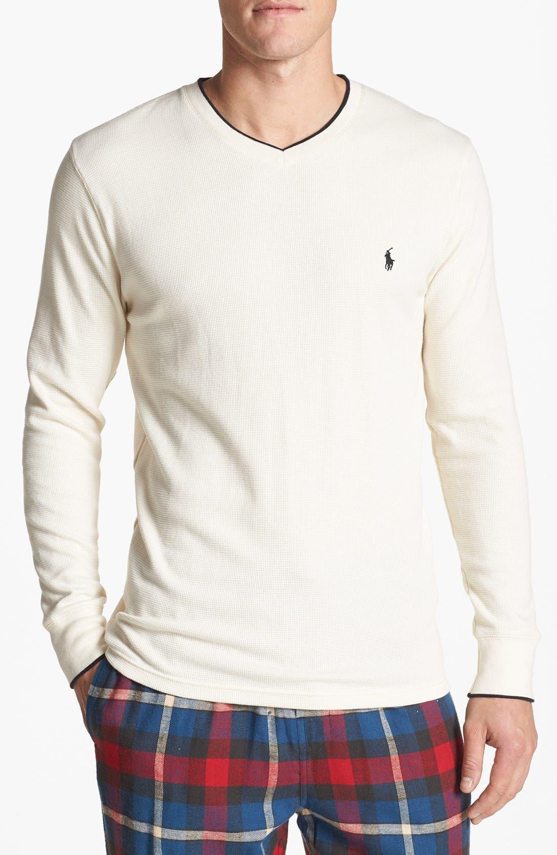 Alternate Image 1 Selected - Polo Ralph Lauren Waffle Knit Lounge Shirt