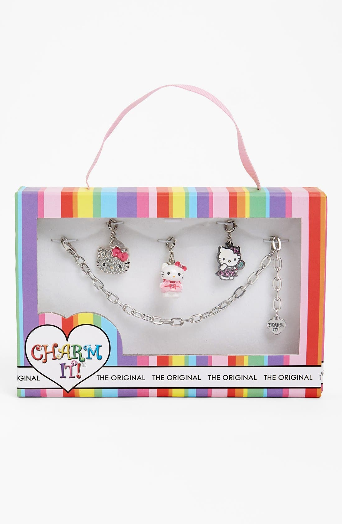 Alternate Image 1 Selected - CHARM IT!® 'Hello Kitty®' Charm Bracelet Gift Set (Girls)
