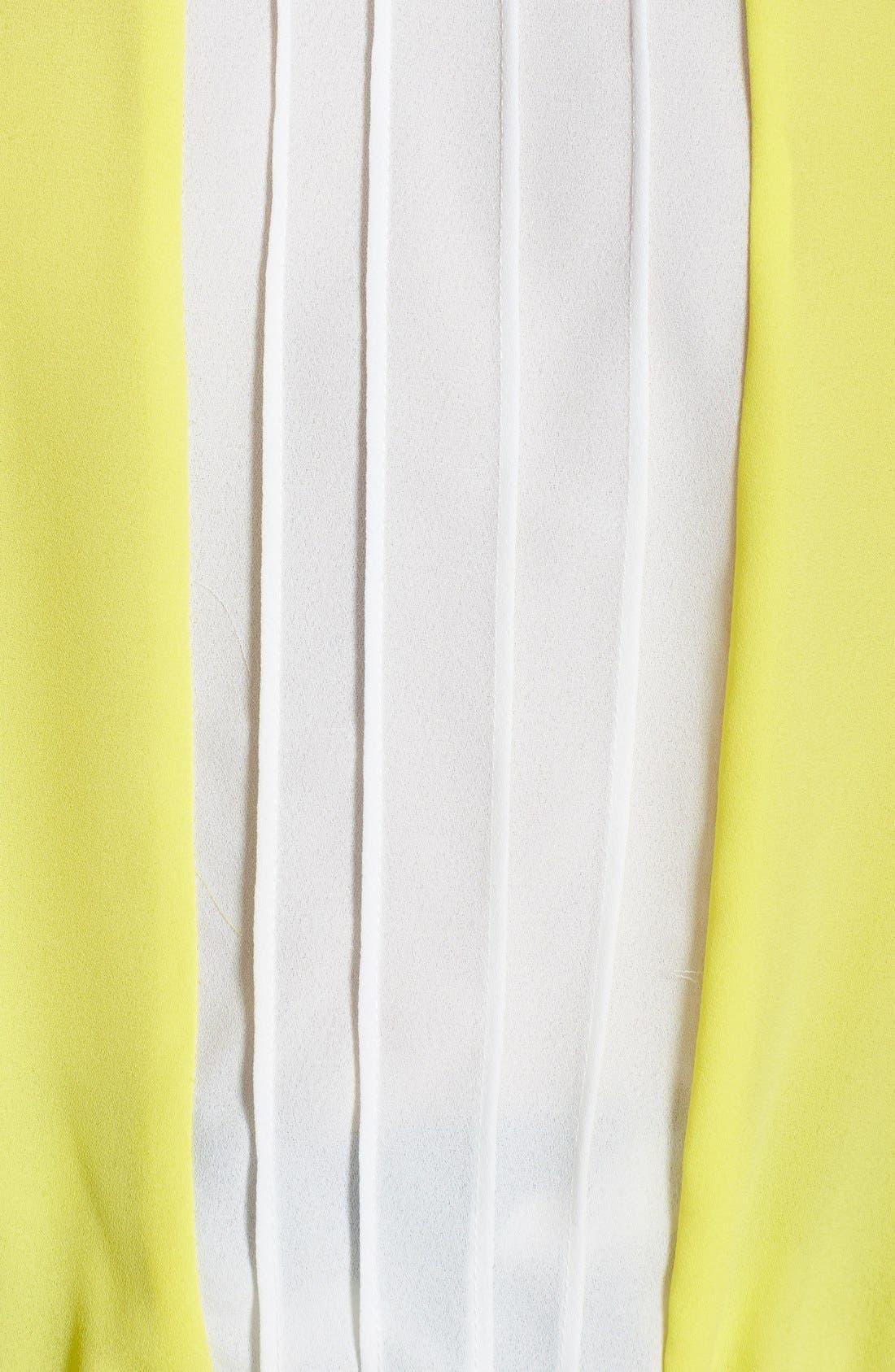 Alternate Image 3  - Lily White Pleat Colorblock Halter Top (Juniors)