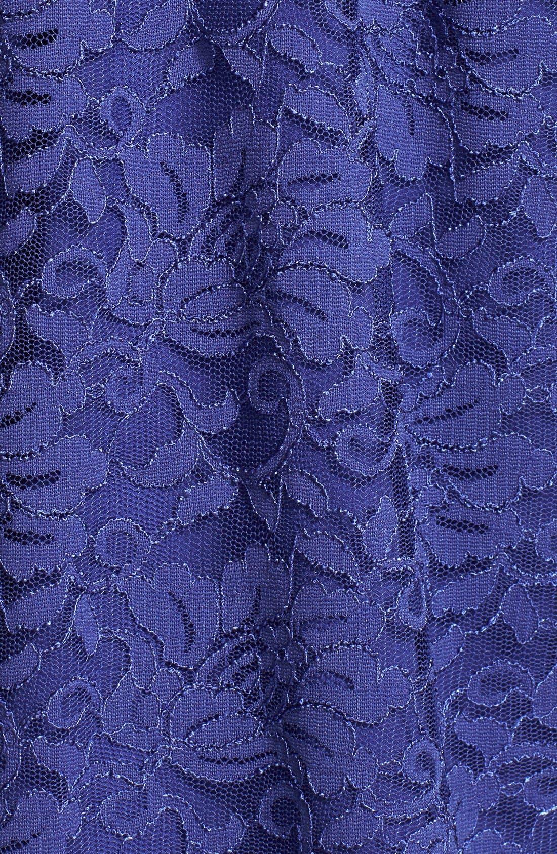 Alternate Image 3  - Alex Evenings Surplice Lace Dress
