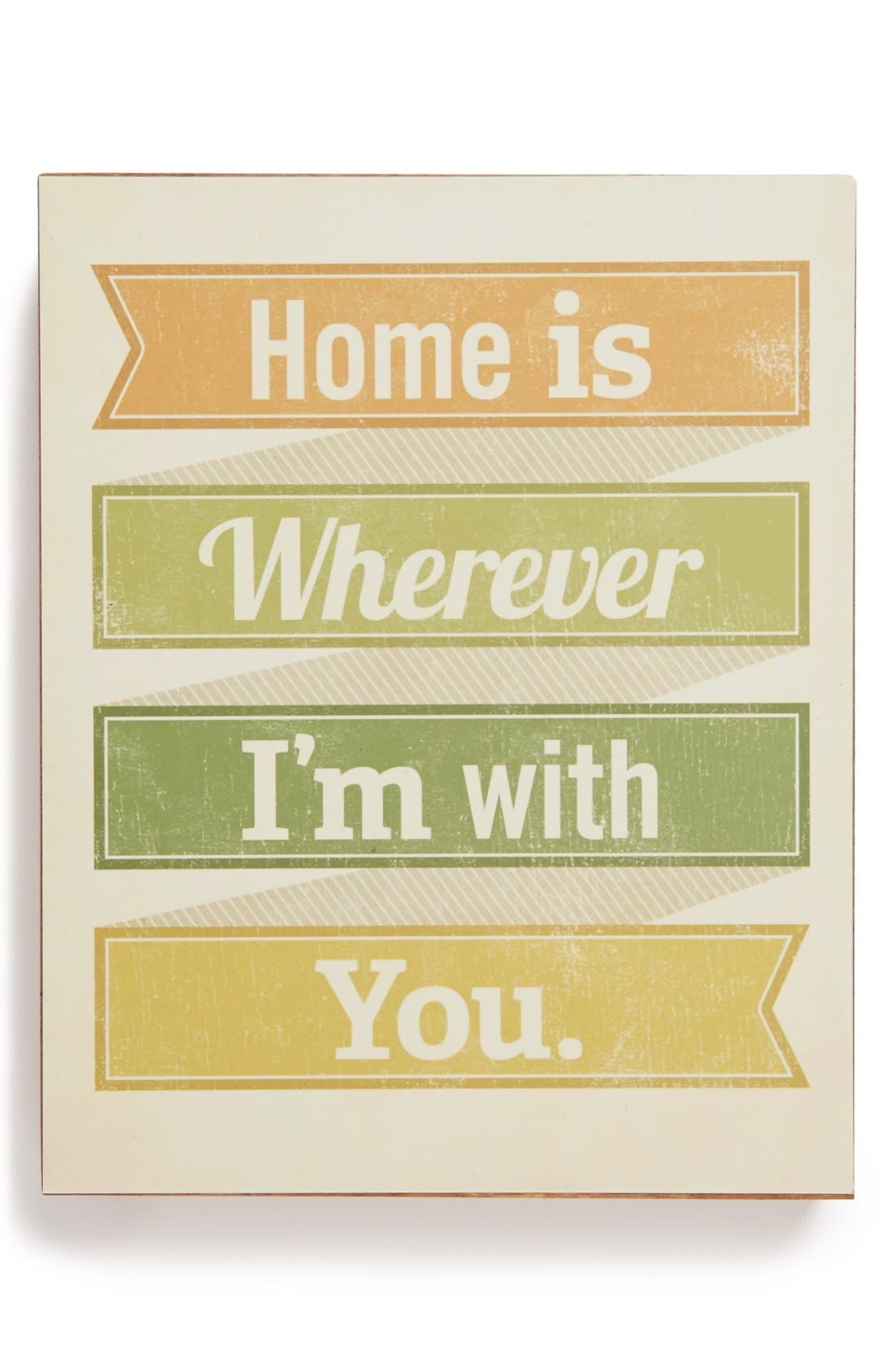 Main Image - Lucius Designs 'Home Is Wherever I'm with You' Wood Block Art