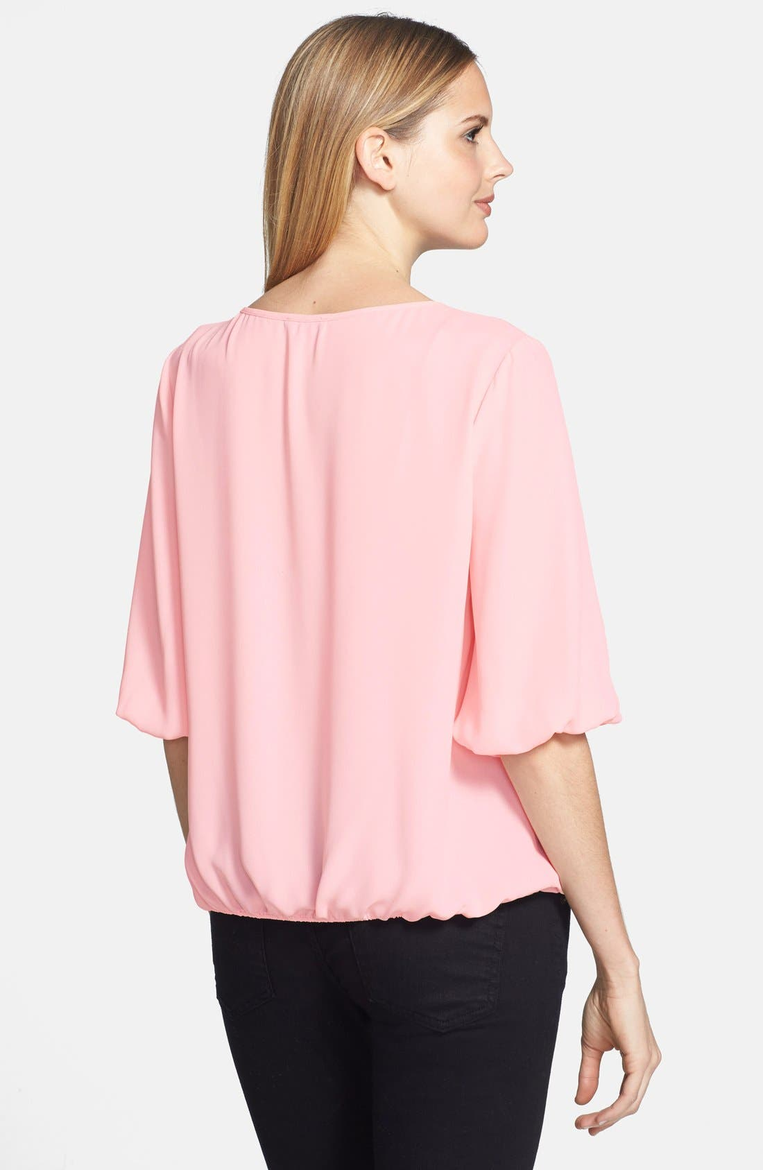 Alternate Image 2  - Vince Camuto Faux Wrap Front Blouse