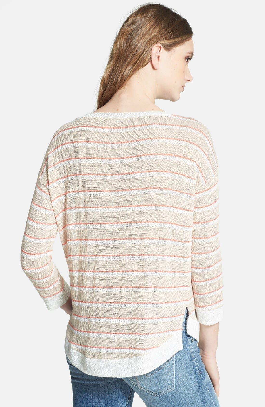 Alternate Image 2  - Splendid Stripe V-Neck Sweater