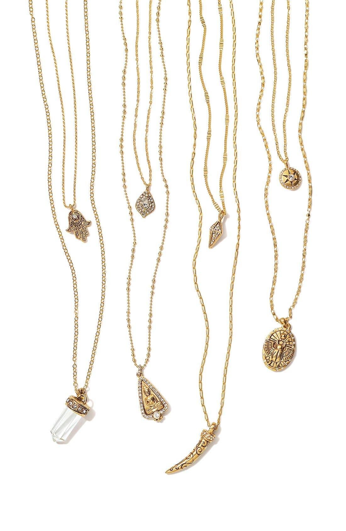 Alternate Image 3  - Nordstrom Multistrand Hamsa Pendant Necklace
