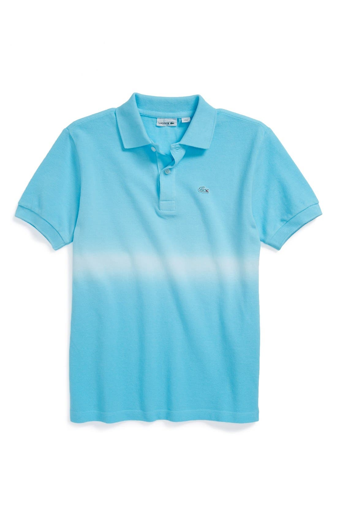 Main Image - Lacoste Dip Dye Cotton Piqué Polo (Little Boys & Big Boys)