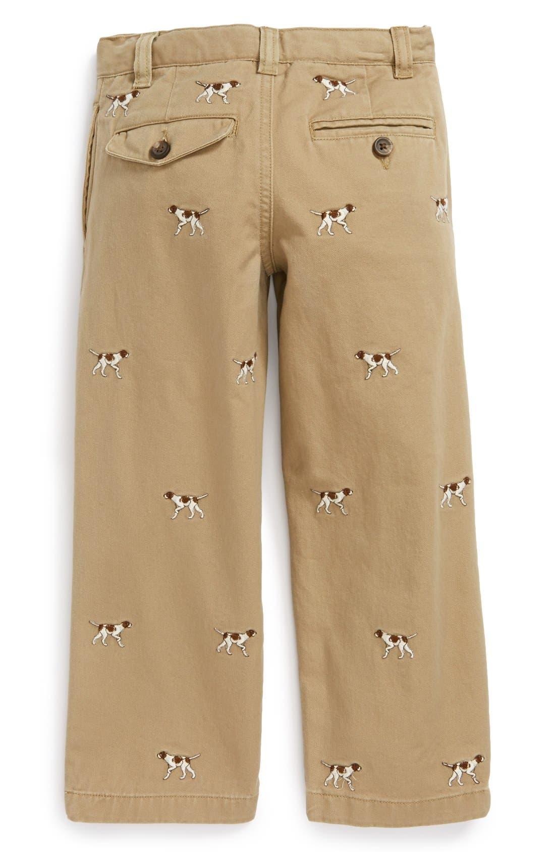 Alternate Image 2  - Ralph Lauren Embroidered Straight Leg Pants (Toddler Boys)
