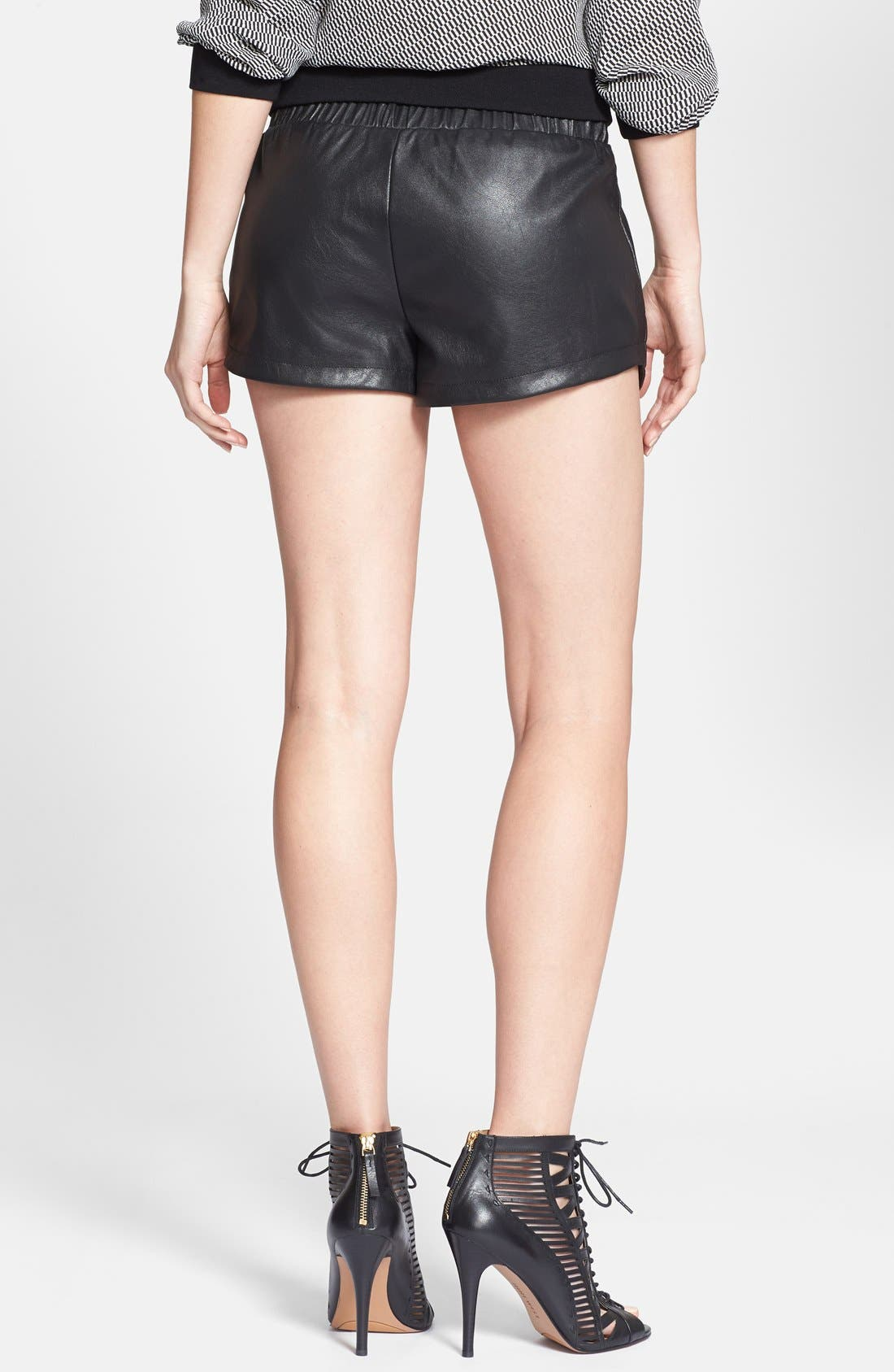 Alternate Image 2  - Max & Mia Faux Leather Athletic Shorts