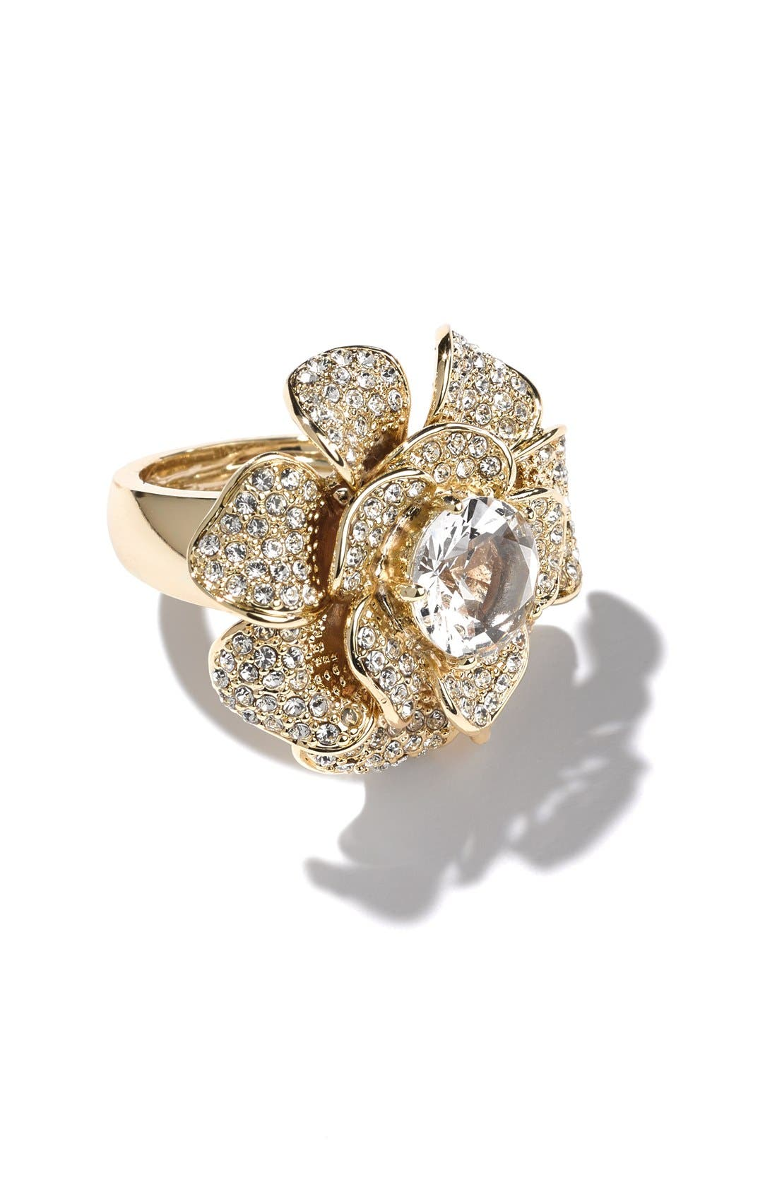 Alternate Image 4  - Ariella Collection Pavé Flower Cocktail Ring