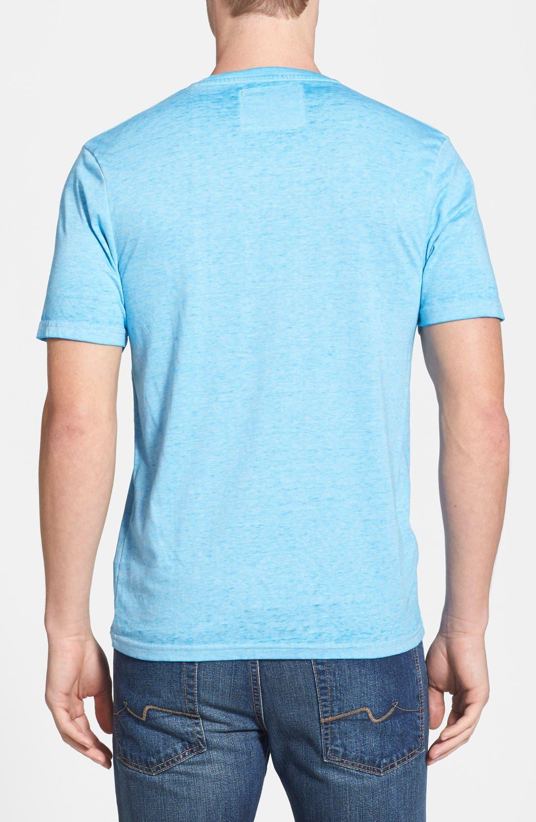 Alternate Image 2  - Red Jacket 'Texas Rangers - Burnout' V-Neck T-Shirt