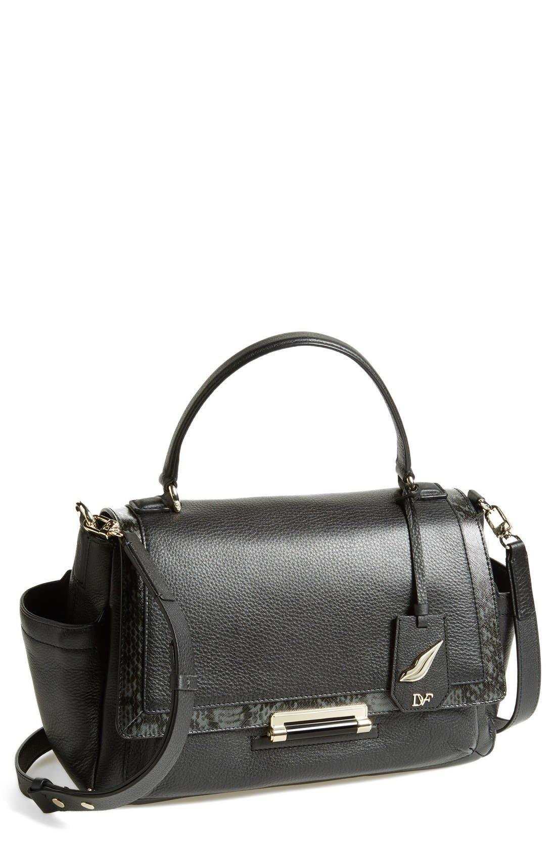 Alternate Image 1 Selected - Diane von Furstenberg '440 Courier' Leather Top Handle Satchel