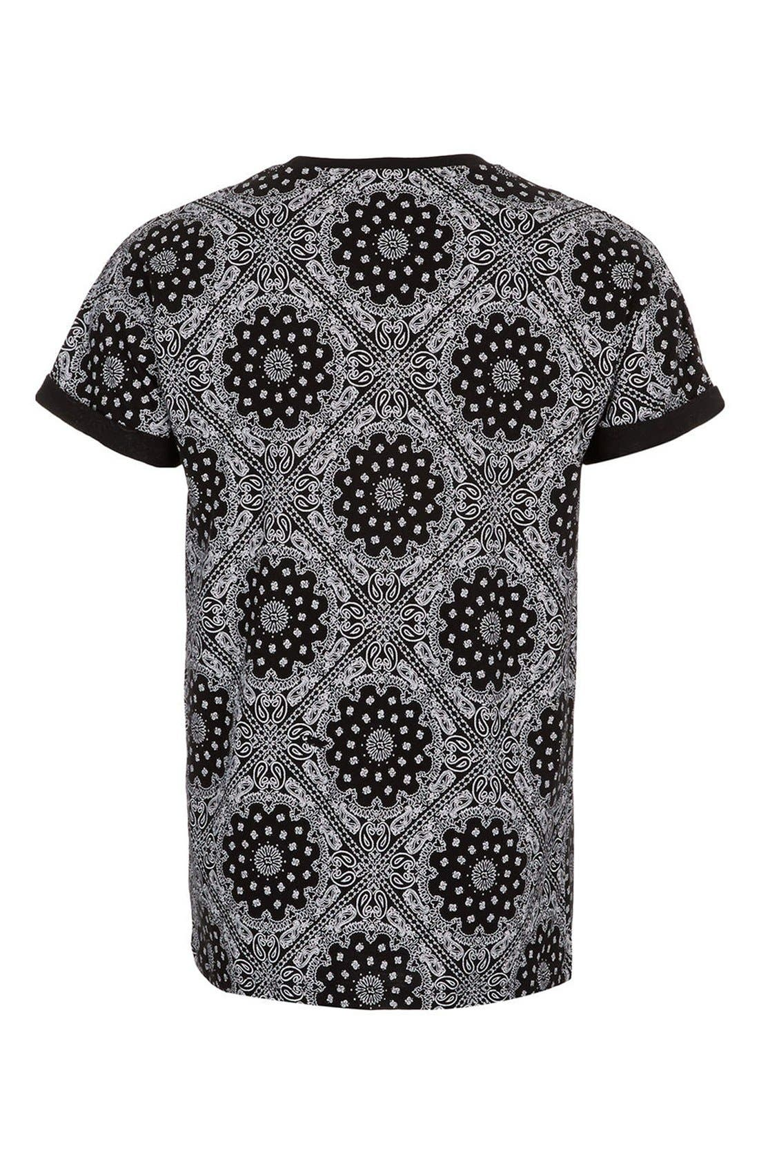Alternate Image 2  - Topman Bandana Print Cotton Tee