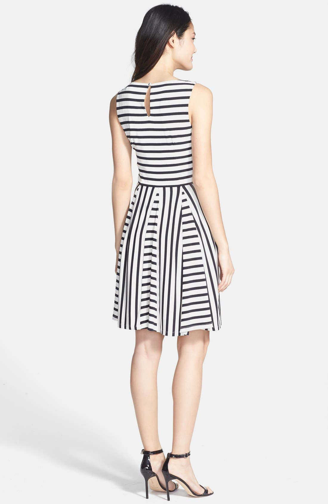 Alternate Image 2  - Maggy London Stripe Jersey Fit & Flare Dress (Regular & Petite)