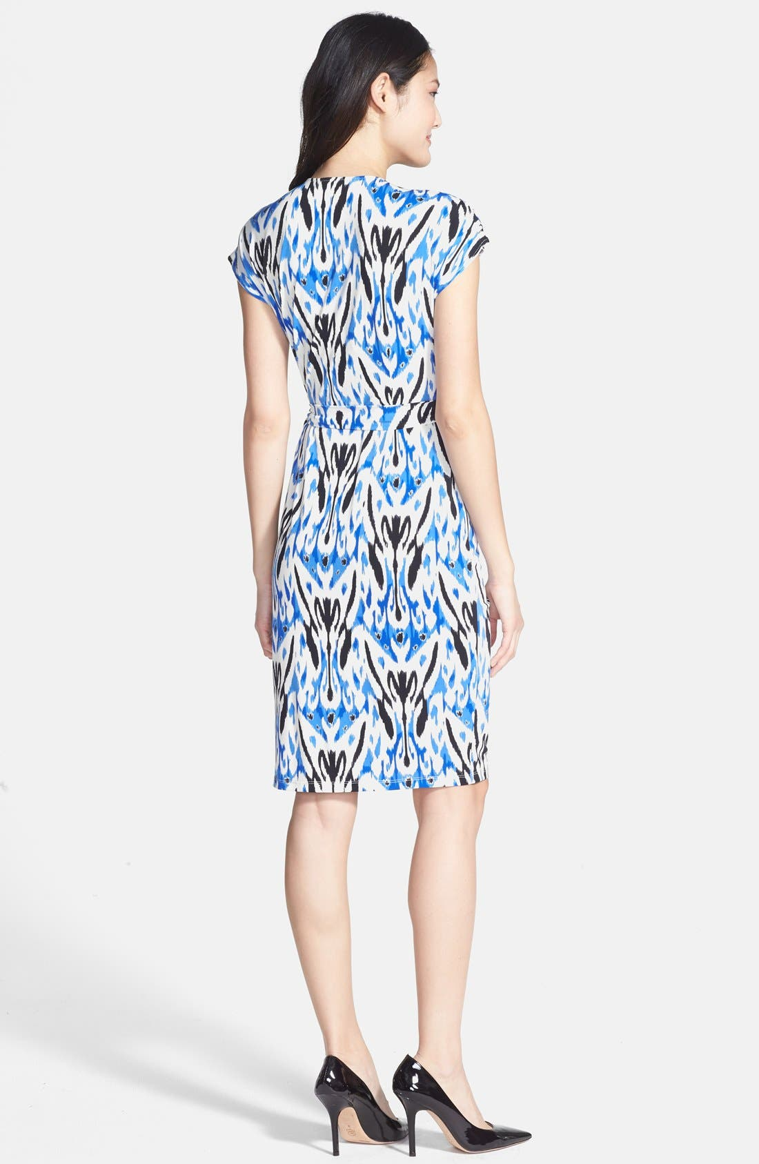 Alternate Image 3  - Maggy London Print Short Sleeve Wrap Dress