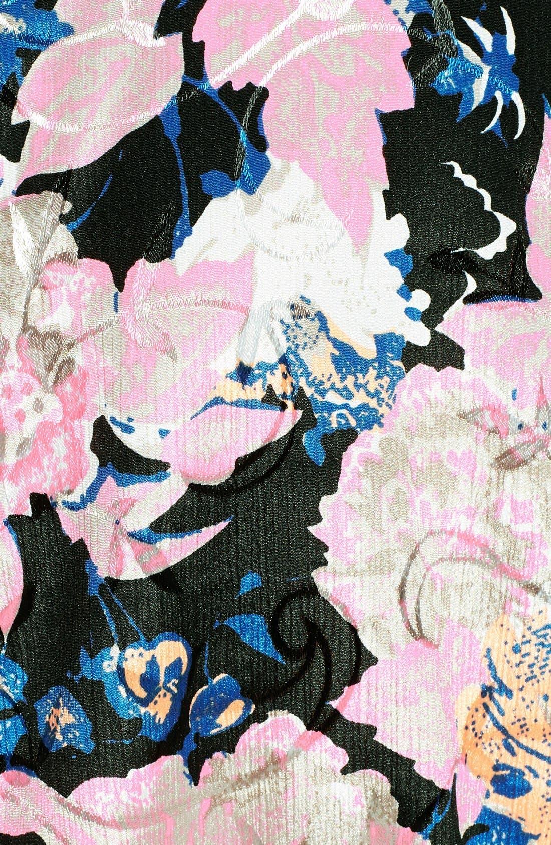 Alternate Image 3  - ASTR Floral Jacquard Crop Top