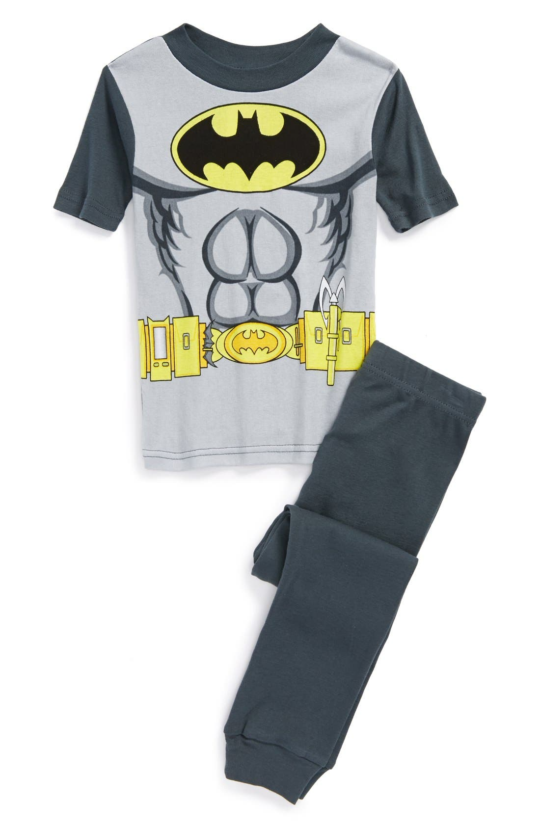Alternate Image 1 Selected - Warner Brothers™ 'Batman™' Two-Piece Fitted Pajamas (Little Boys & Big Boys)