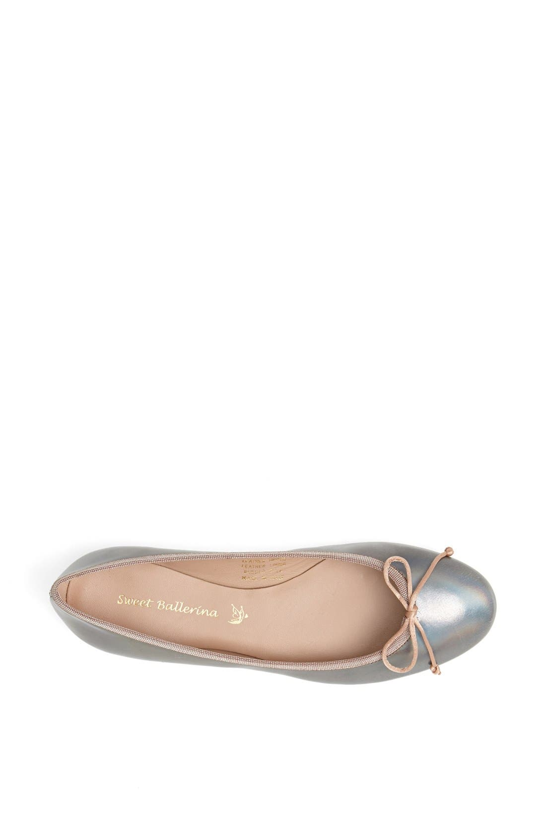 Alternate Image 4  - Sweet Ballerina Metallic Ballet Flat (Women)