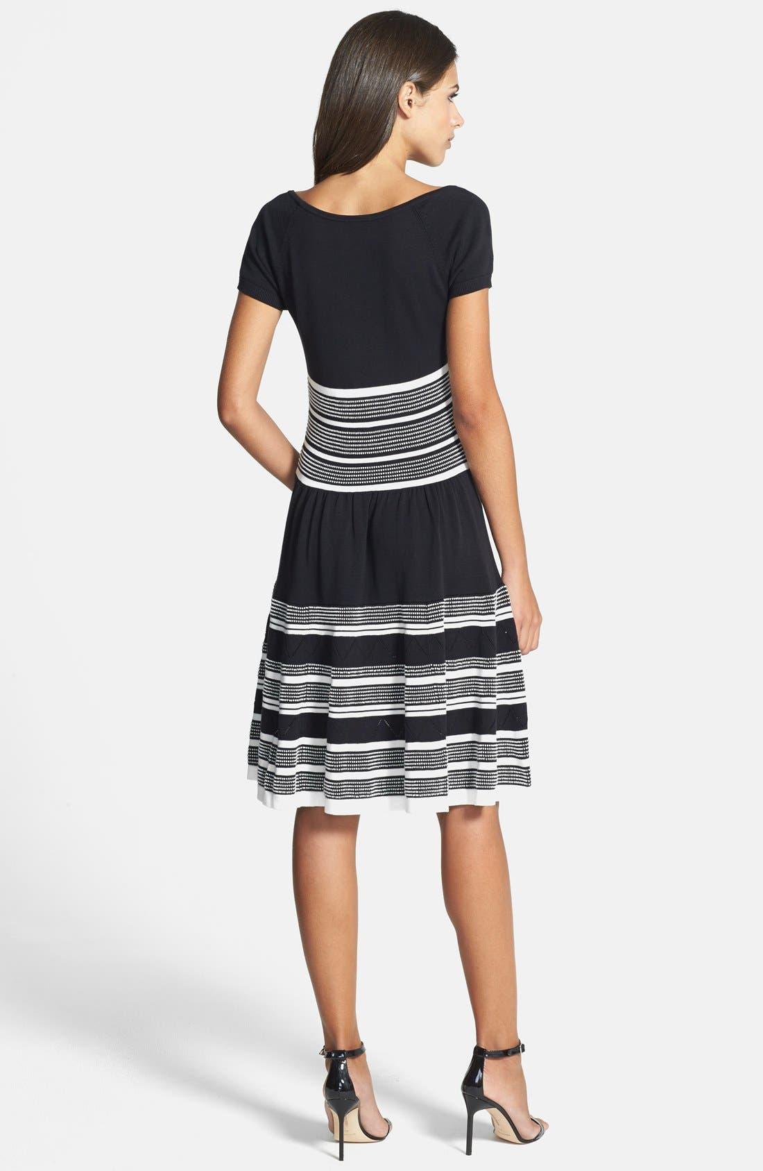 Alternate Image 2  - kate spade new york cotton knit swing dress