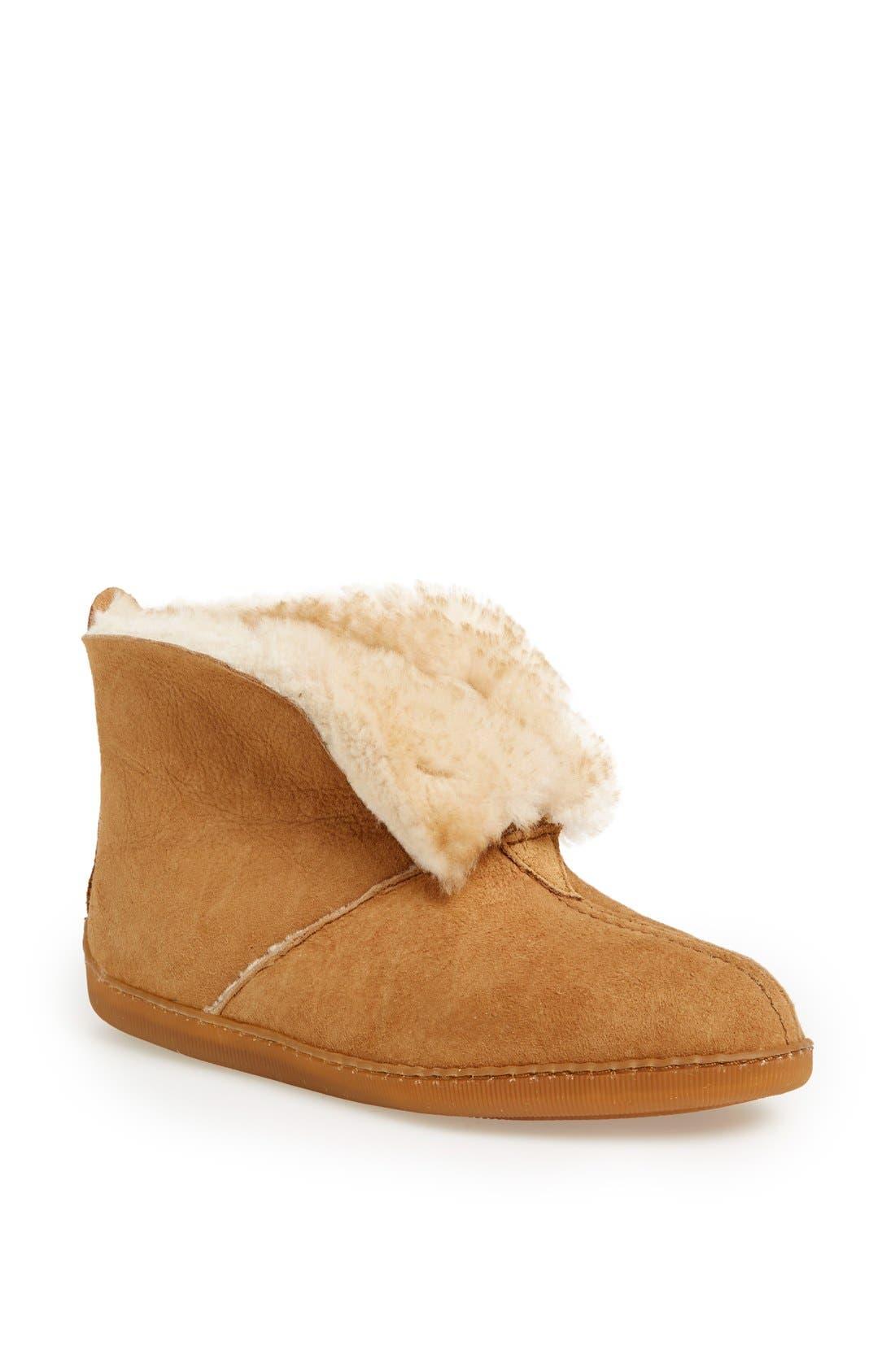 Alternate Image 1 Selected - Minnetonka Sheepskin Slipper Boot (Women)