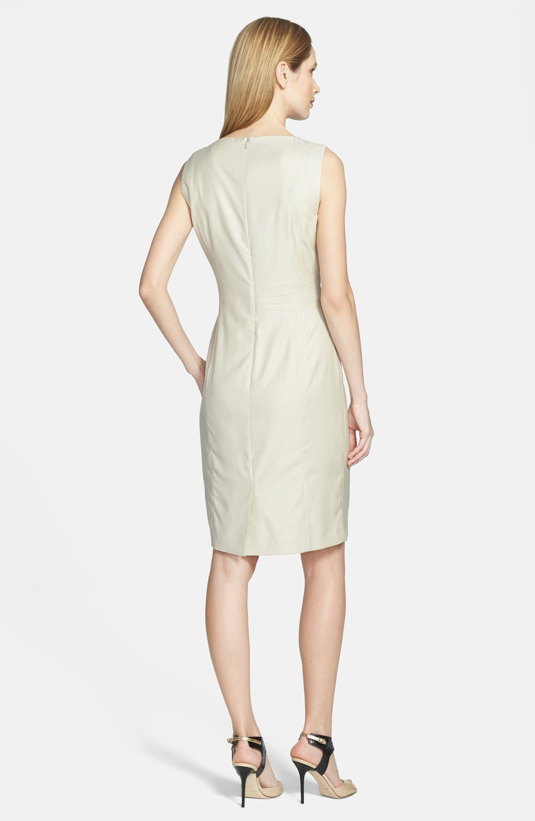 Alternate Image 2  - BOSS 'Decila' Sleeveless Suiting Dress