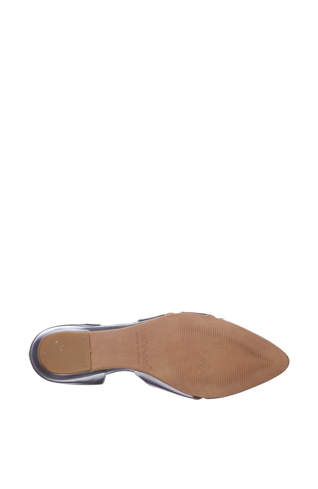 Alternate Image 4  - SIXTYSEVEN 'Erika' Pointy Toe Flat