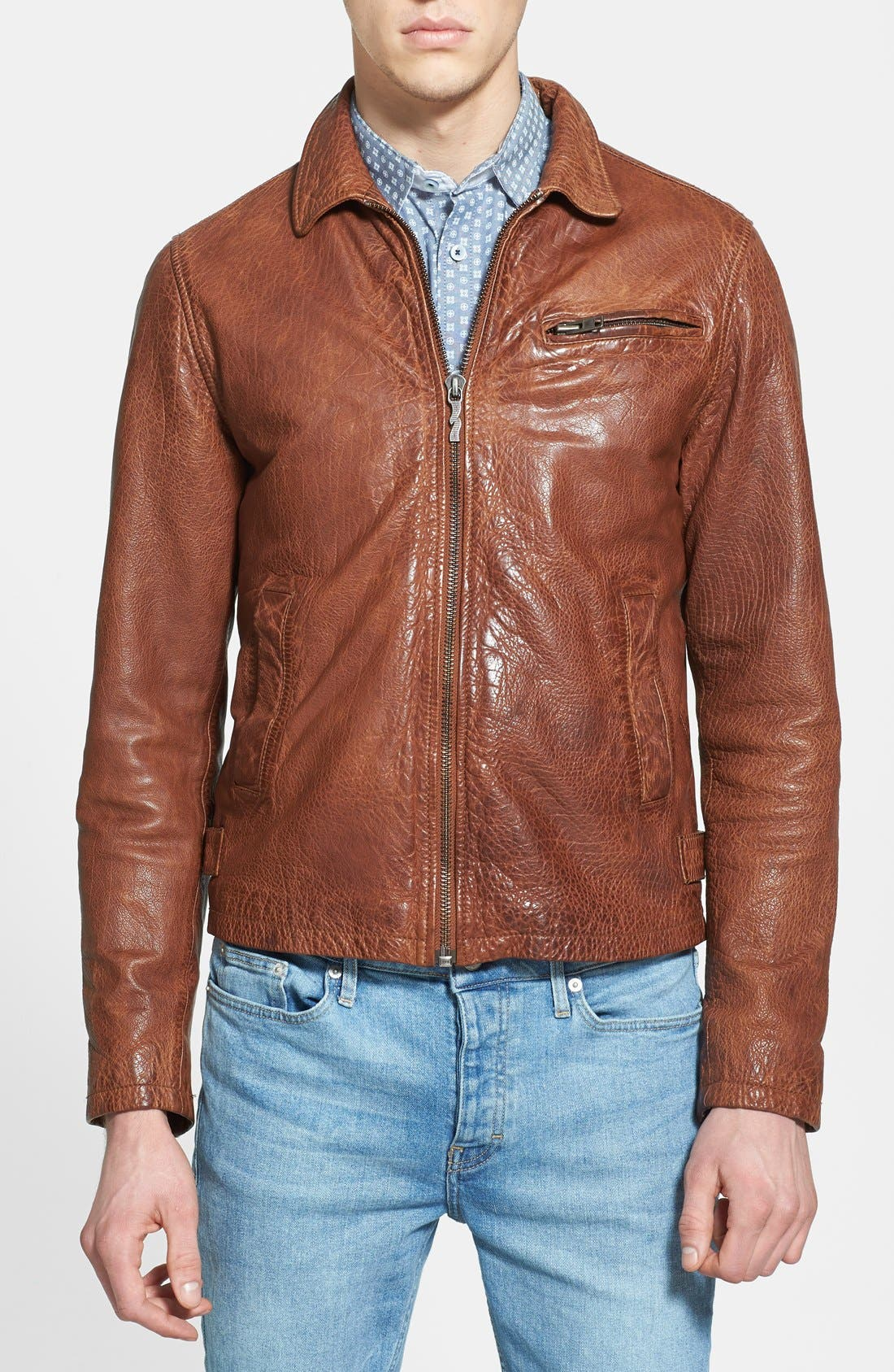 Alternate Image 1 Selected - Nudie Jeans 'Ervin '50s' Leather Jacket