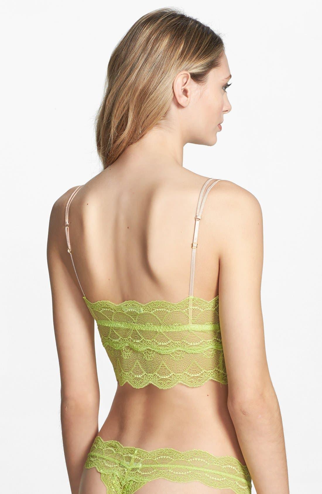 Alternate Image 2  - Eberjey 'Zinia' Sheer Lace Longline Bralette