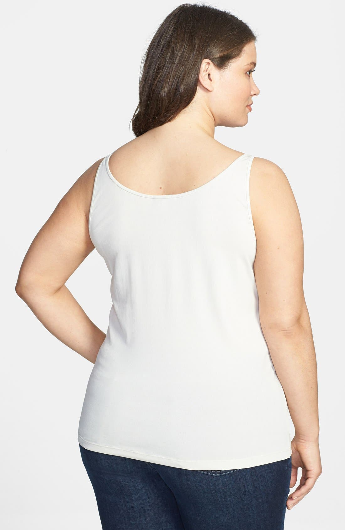 Alternate Image 2  - Eileen Fisher Stretch Silk Jersey Camisole (Plus Size)
