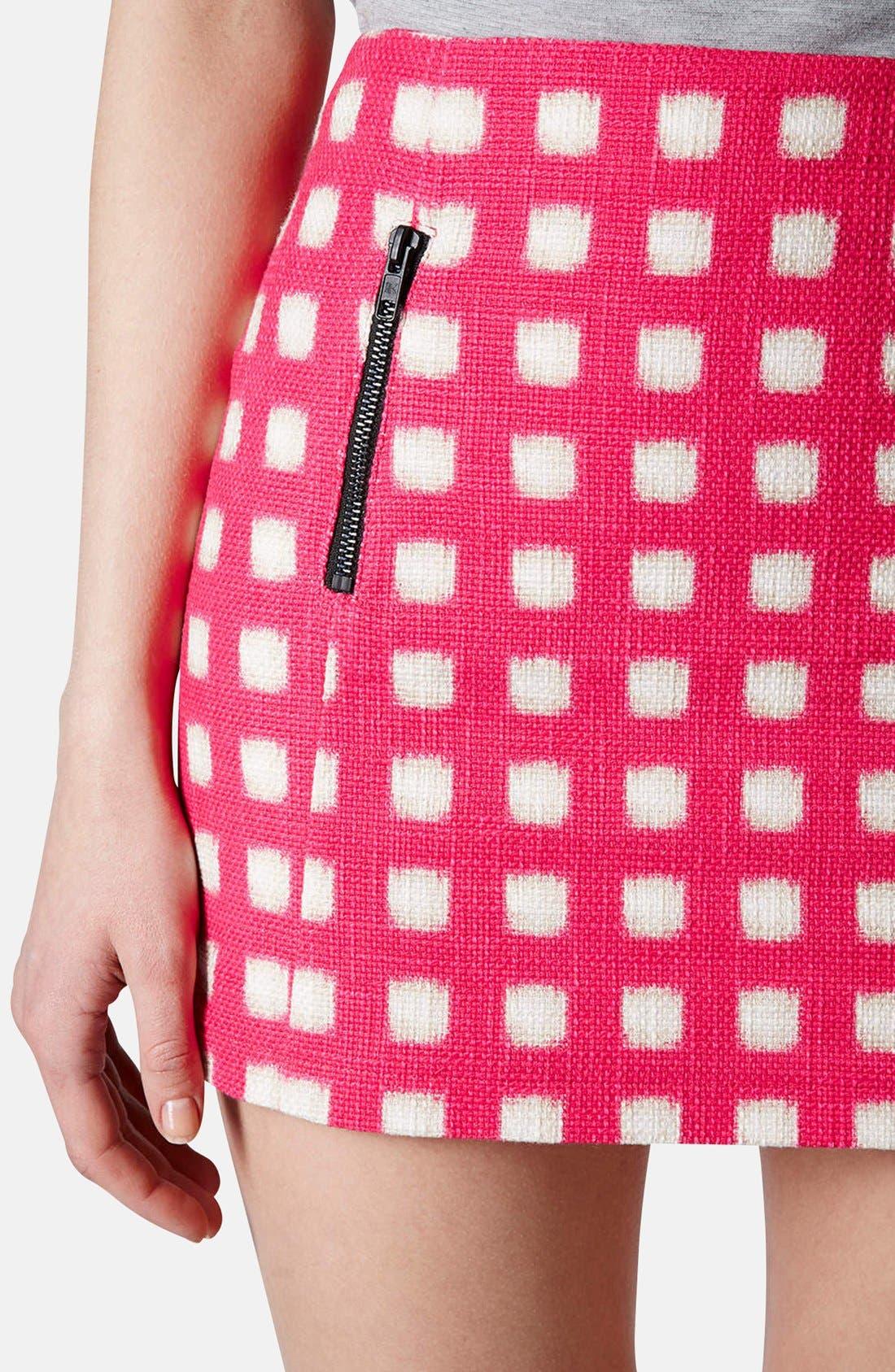 Alternate Image 4  - Topshop Grid Print Cotton Miniskirt