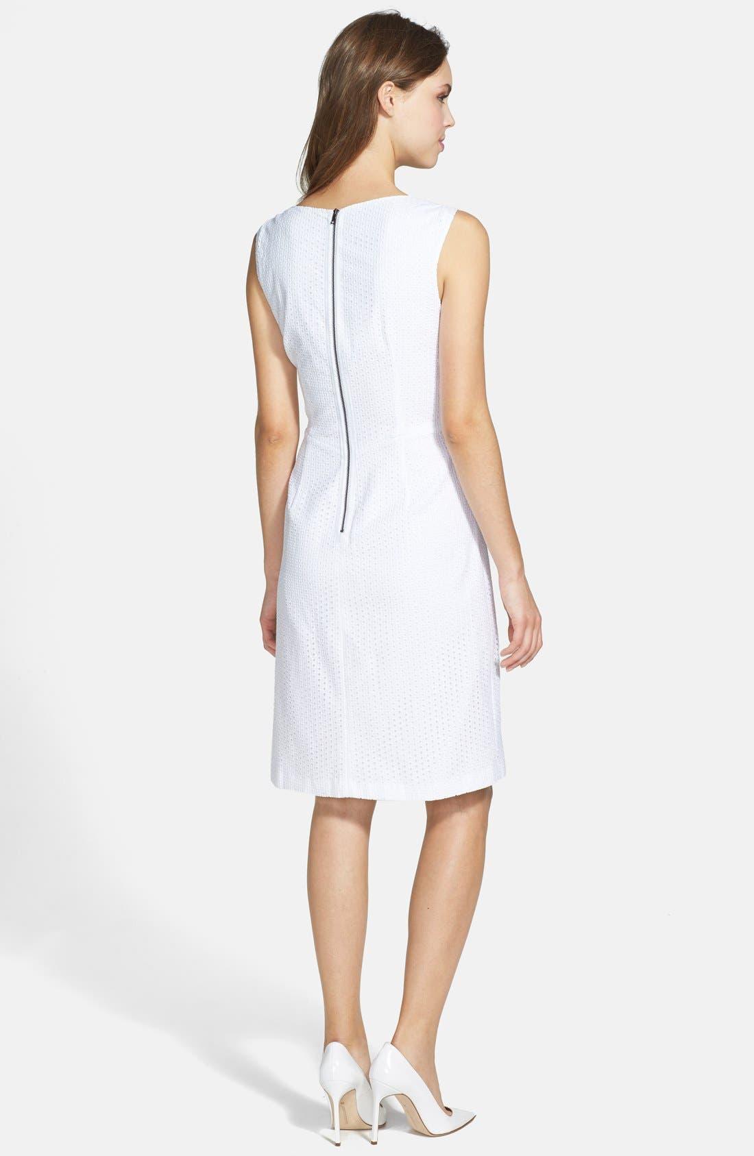 Alternate Image 2  - T Tahari 'Myra' Peplum Sheath Dress